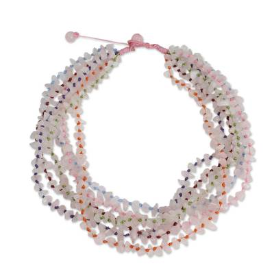 Rose Quartz Necklace Handcrafted Jewelry