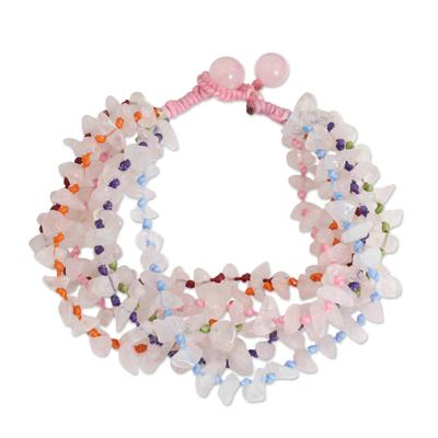 Rose Quartz Bracelet Handcrafted Jewelry