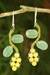 Aventurine and serpentine beaded earrings, 'Sweet Yellow Ivy' - Artisan Crafted Earrings Beaded Jewelry thumbail