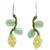 Aventurine and serpentine beaded earrings, 'Sweet Yellow Ivy' - Artisan Crafted Earrings Beaded Jewelry (image 2a) thumbail