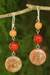 Jasper and carnelian dangle earrings, 'Polished Petals' - Unique Thai Jasper and Carnelian Earrings (image 2) thumbail