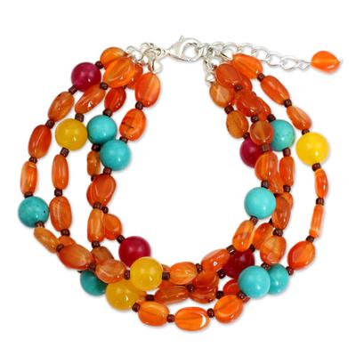 Carnelian Three Strand Bracelet