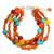 Carnelian beaded bracelet, 'Sun Shower' - Carnelian Three Strand Bracelet (image 2a) thumbail