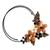 Cultured pearl and onyx flower choker, 'Ginger Bouquet' - Fair Trade Floral Pearl and Onyx Choker (image 2b) thumbail