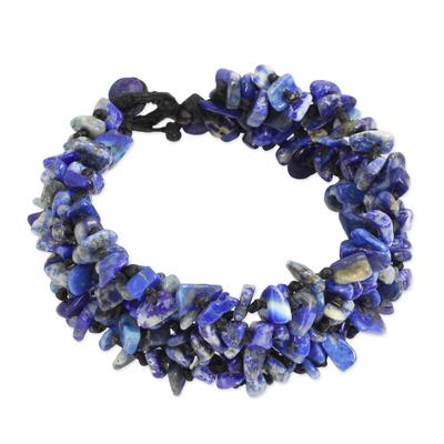 Fair Trade Handcrafted Lapis Lazuli Beaded Bracelet