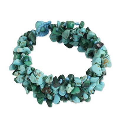 Malachite Calcite Bracelet Handcrafted Jewelry