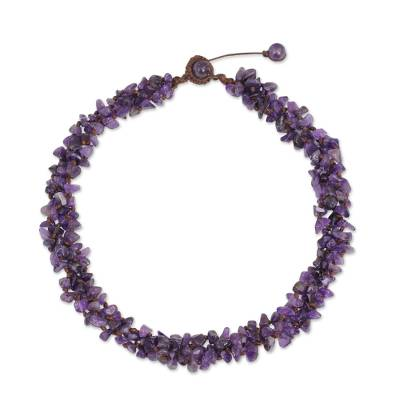 Thai Amethyst Necklace Handcrafted Jewelry