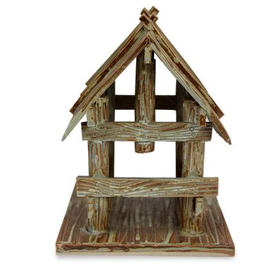 Ceramic Stable for Nativity Scene