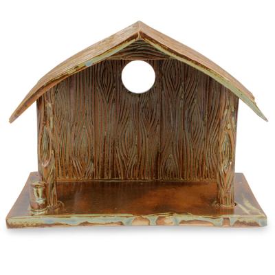Ceramic Cottage for Nativity Scene