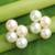 Cultured pearl button earrings, 'Luminous Purity - Thai White Pearl Earrings thumbail
