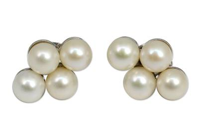 Cultured pearl button earrings, 'Luminous Purity - Thai White Pearl Earrings
