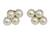 Cultured pearl button earrings, 'Luminous Purity - Thai White Pearl Earrings (image 2a) thumbail