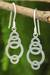 Sterling silver dangle earrings, 'Circle Dance' - Artisan Crafted Silver Geometric Earrings thumbail