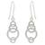 Sterling silver dangle earrings, 'Circle Dance' - Artisan Crafted Silver Geometric Earrings (image 2a) thumbail
