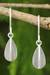 Sterling silver dangle earrings, 'Quartered Leaf' - Thai Silver Earrings thumbail