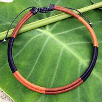 Cotton collar necklace,