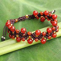 Carnelian wristband bracelet,