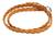 Leather wrap bracelet, 'Brown Braid' - Brown Braided Leather Bracelet with Hill Tribe Silver thumbail