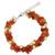 Cultured pearl and carnelian beaded bracelet, 'Gracious Lady' - Carnelian and Pearl Bracelet Handcrafted Jewelry (image 2b) thumbail