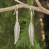 Sterling silver dangle earrings, 'Flight'