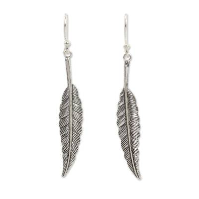 Handcrafted Sterling Silver Leaf Dangle Earring