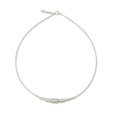 Sterling silver pendant necklace, 'Future Chic' - Artisan Crafted Sterling Silver Necklace