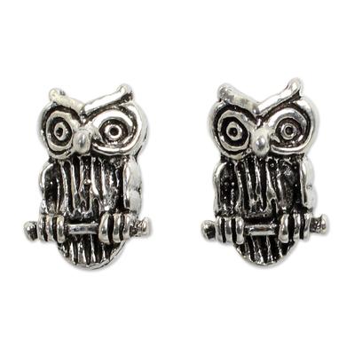 Silver Bird Theme Earrings