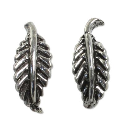 Silver Leaf Theme Earrings