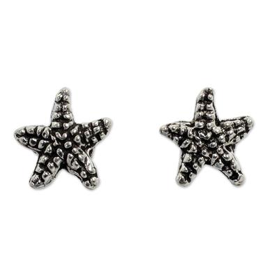 Silver Sea Life Theme Earrings