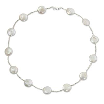 Artisan Crafted Biwa Pearl Necklace