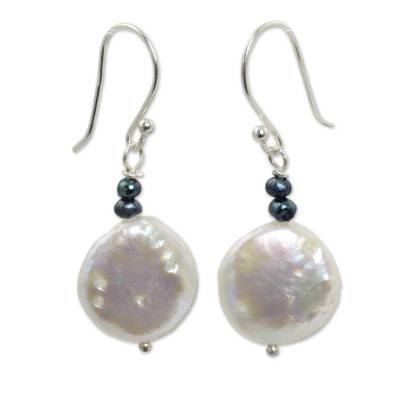 White and Gray Pearl Handcrafted Earrings