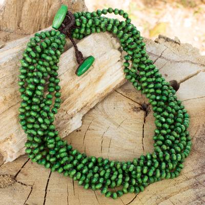 Wood torsade necklace, Khao Luang Belle