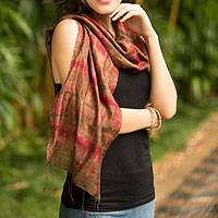 Silk scarf, 'Siam Adventure'