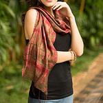 Hand-spun Silk Tie Dye Scarf, 'Siam Adventure'