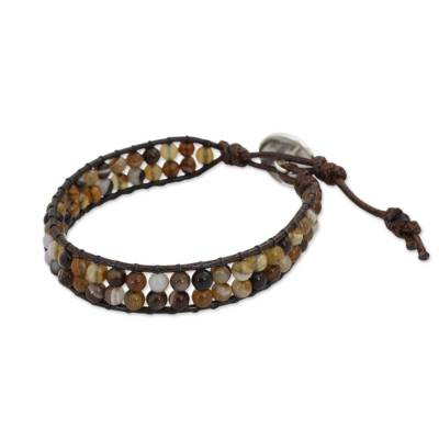 Thai Beaded Agate Wristband Bracelet