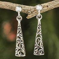 Sterling silver dangle earrings, 'Fantasy'