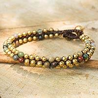 Jasper beaded bracelet, 'Ethnic Galaxy of Colors'