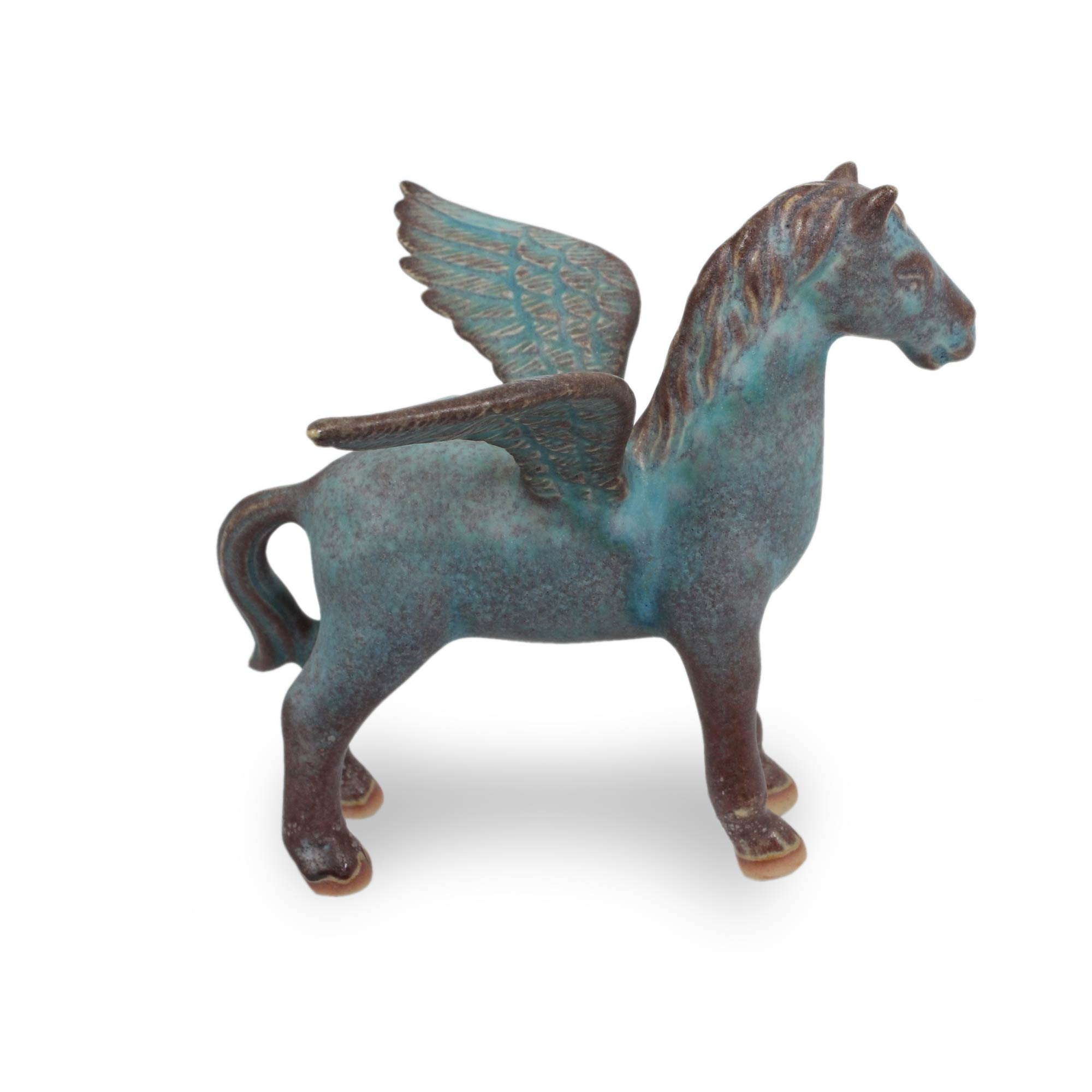 UNICEF Market | Handcrafted Celadon Winged Horse from Thailand - Pegasus