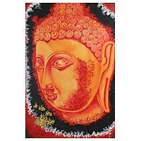 'Faith Powers' - Original Buddha Oil on Canvas Painting