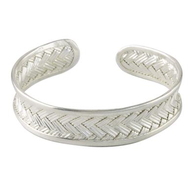 Woven Silver Cuff