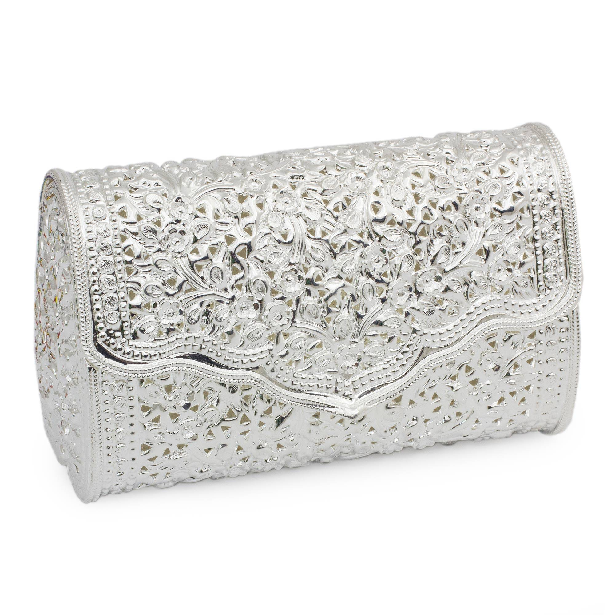 c24992b904e Unicef UK Market | Floral Silver Clutch Purse - Jasmine