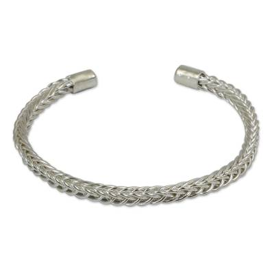 Thai Braided Sterling Cuff Bracelet