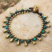 Serpentine beaded bracelet, 'Summer's Charm'