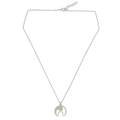 Artisan Crafted Sterling Silver Elephant Pendant Necklace
