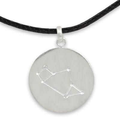 Sterling Silver White Topaz Necklace of Zodiac Sign