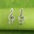 Sterling silver button earrings, 'Sol Key' - Musical Sol Key Note G Clef Earrings in 925 Sterling Silver thumbail