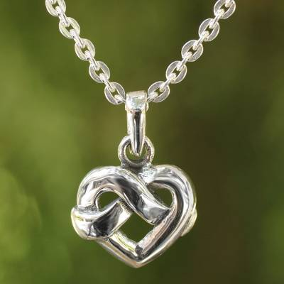 Sterling silver pendant necklace, With Love