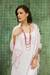 Rayon and silk blend shawl, 'Elegance in Pink' - Pale Pink Floral Jacquard Shawl of a Rayon/Silk Blend (image 2b) thumbail