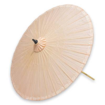 decorative garden umbrella happy garden in beige handcrafted outdoor decor garden umbrella - Beige Garden Decorating