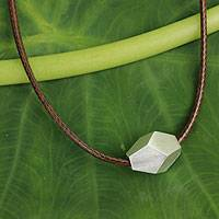 Men's sterling silver pendant necklace, 'Facets'
